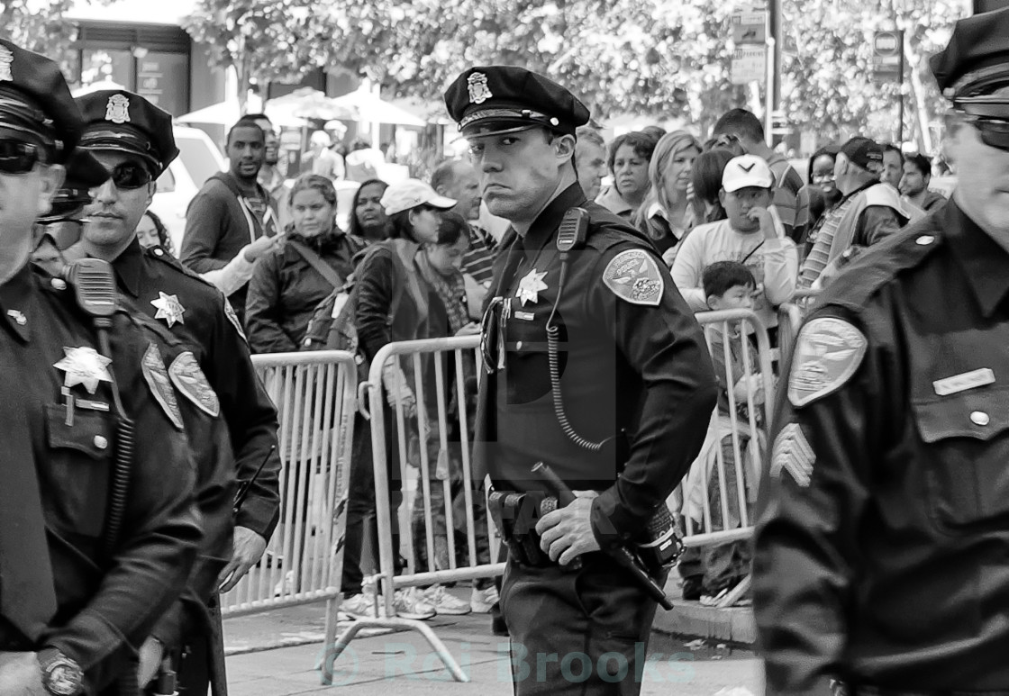 """Police on duty"" stock image"