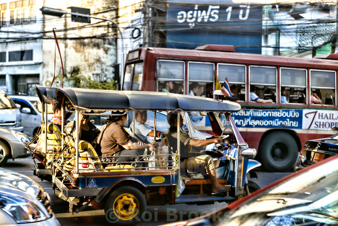 """Morning rush in Bangkok"" stock image"