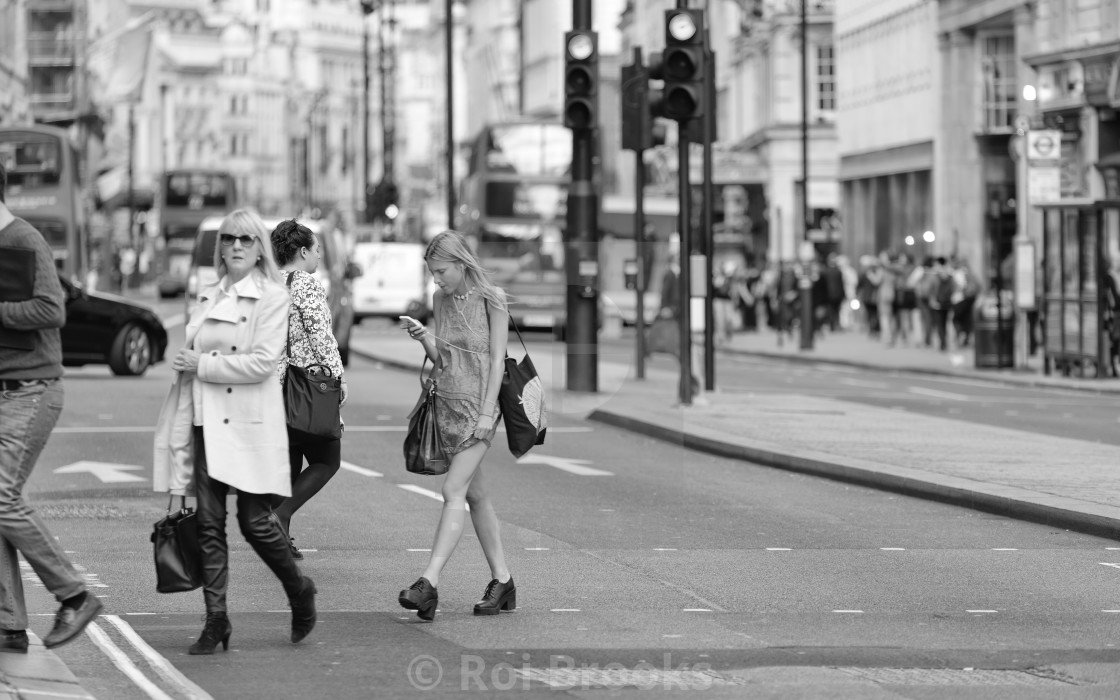 """Crossing the road"" stock image"