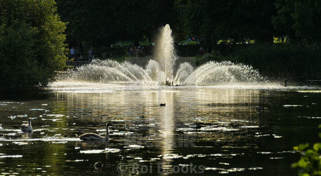"""Fountain in Hyde Park"" stock image"