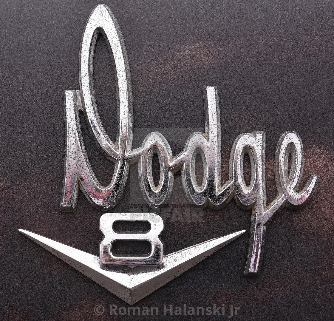 Dodge V8 Emblem Old Pickup Truck License Download Or Print For 3 92 Photos Picfair