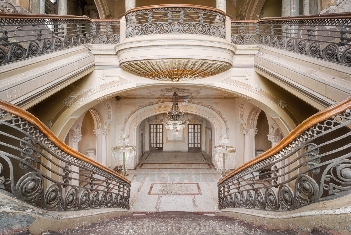 """Abandoned Casino in Constanta - Romania."" stock image"