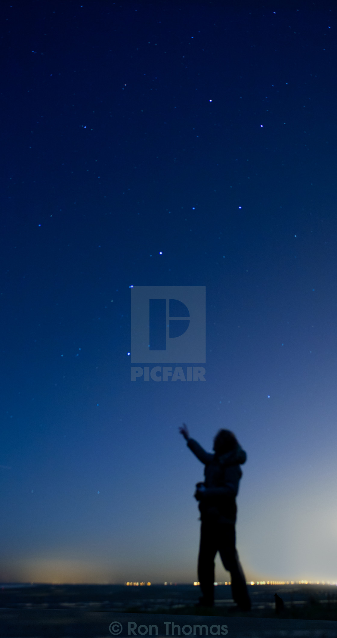 """Night Sky Observer"" stock image"