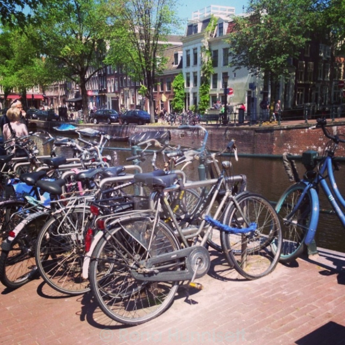 """Amsterdam bicycles"" stock image"