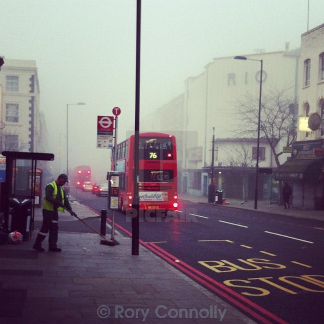"""Foggy Dalston"" stock image"