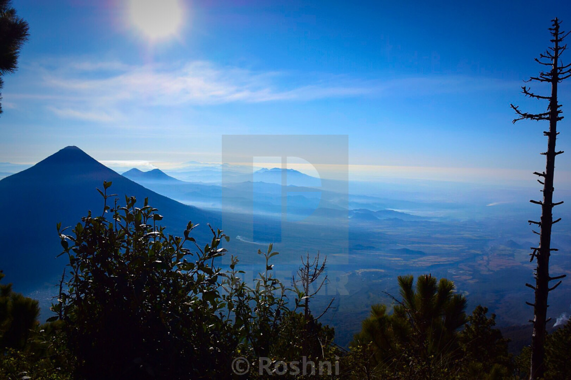 """Volcano Agua guatemala"" stock image"