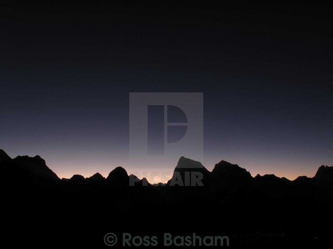 """Himalayas at dawn"" stock image"