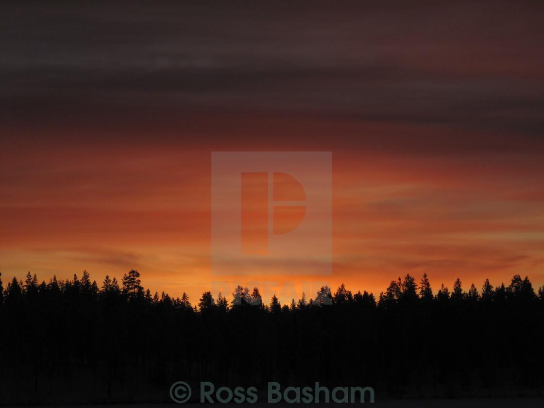 """Finnish sunset"" stock image"