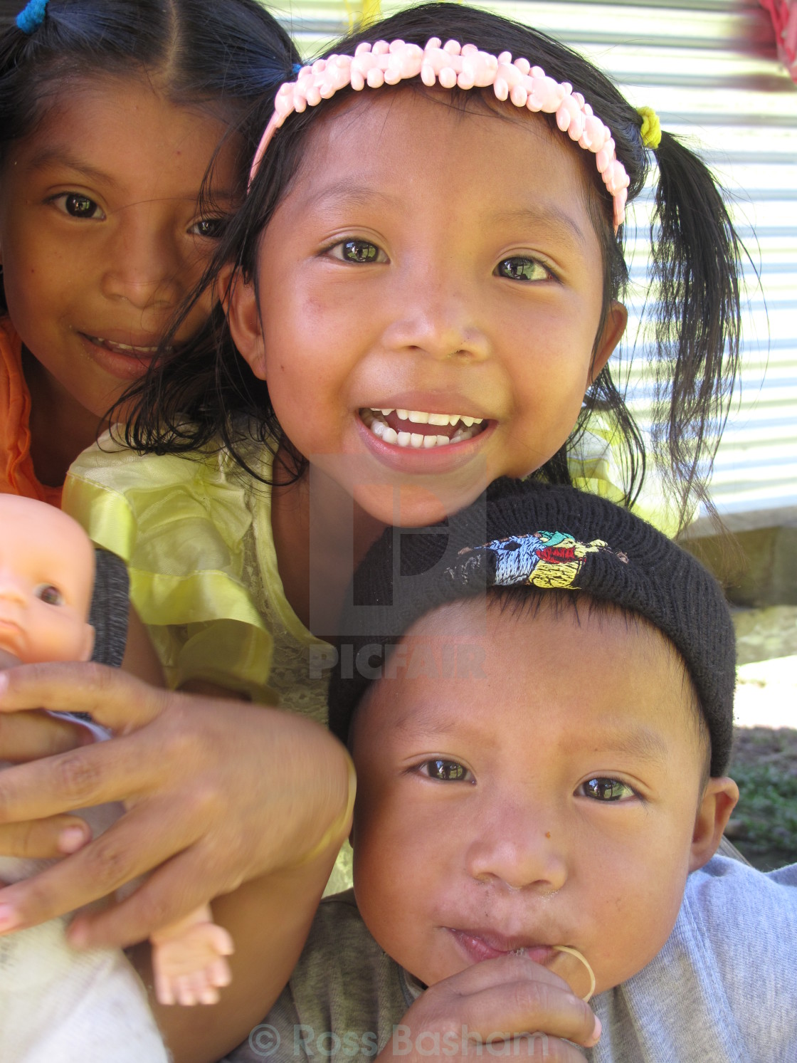 """Central American children (1)"" stock image"
