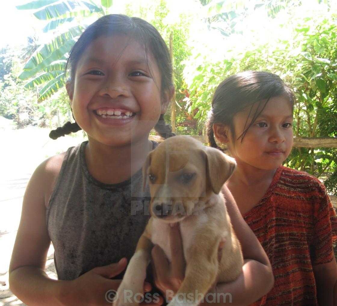 """Central American children"" stock image"