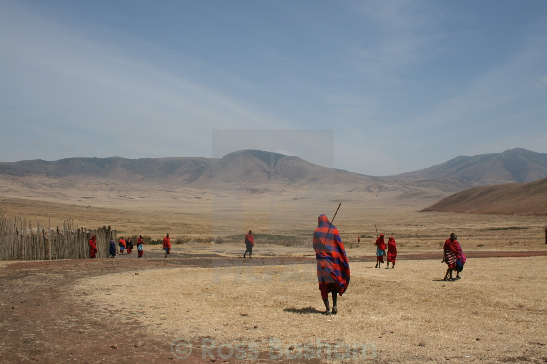 """Masai warriors"" stock image"