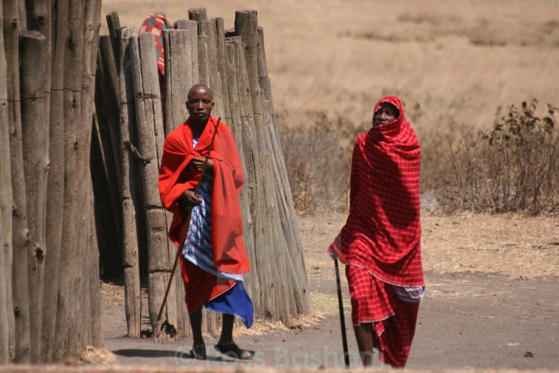 """Masai warriors in Africa"" stock image"