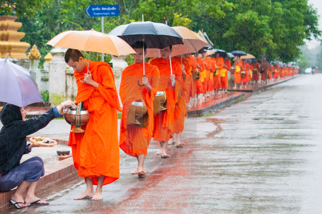 """Line of monks"" stock image"