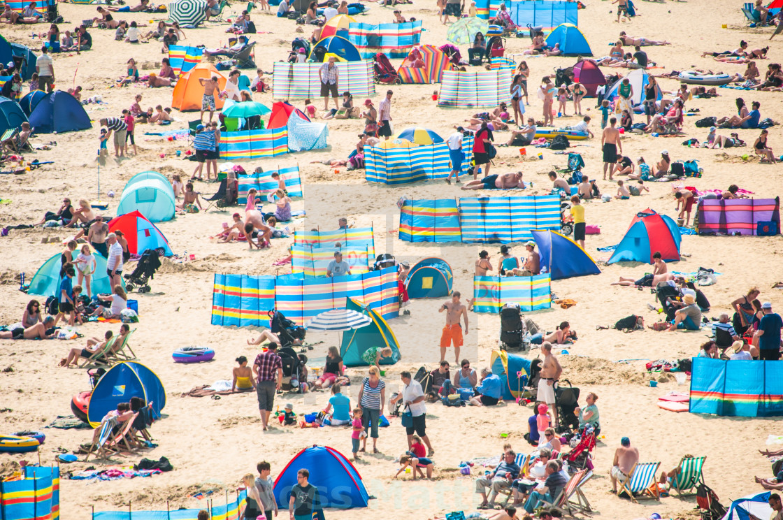 """Sunny beach on English coast"" stock image"