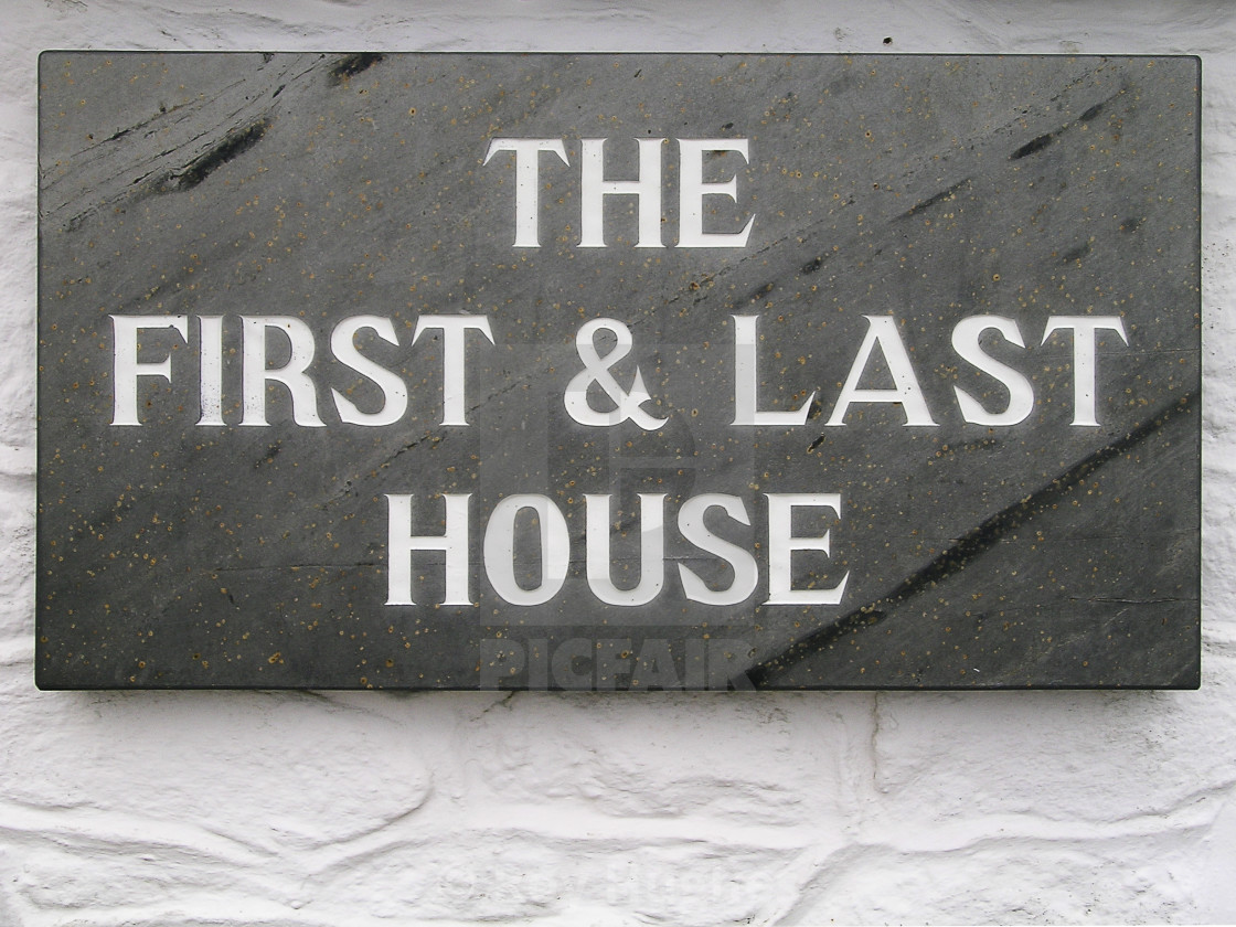 """""""The First and Last House"""" stock image"""