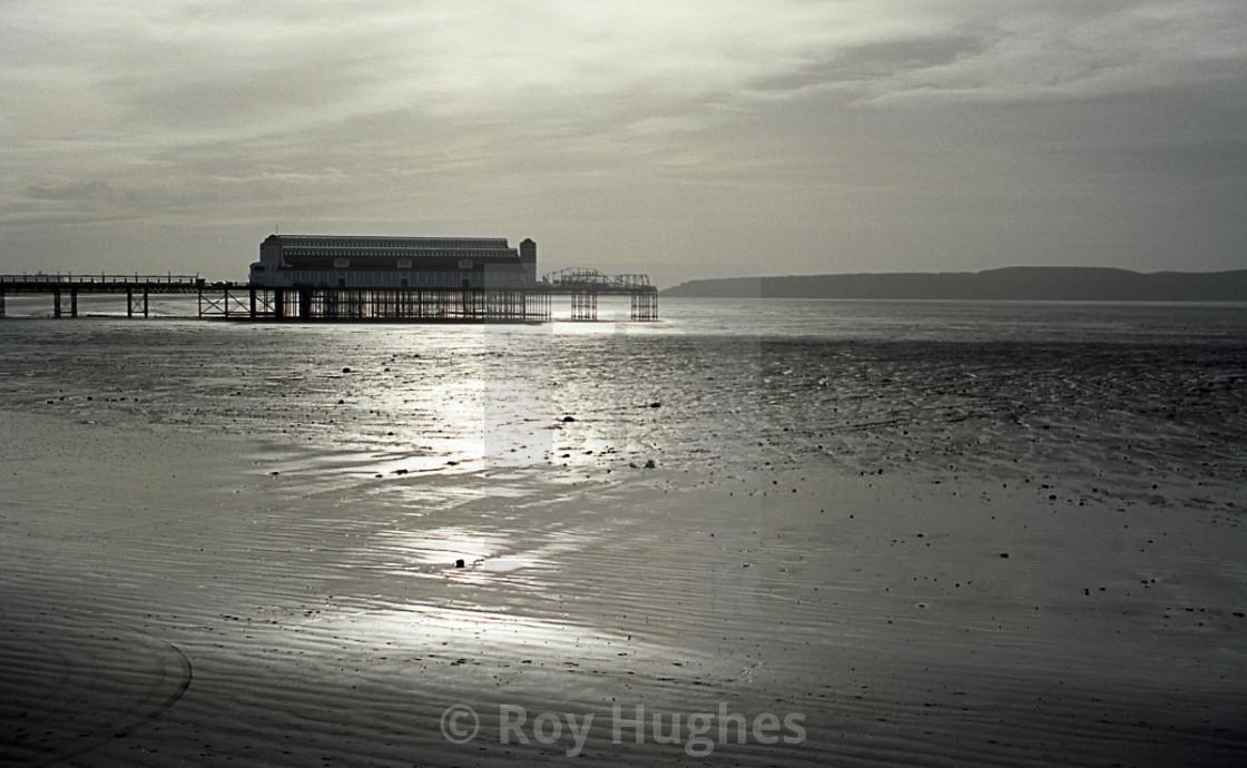 """The Old Pier, Weston-Super-Mare"" stock image"