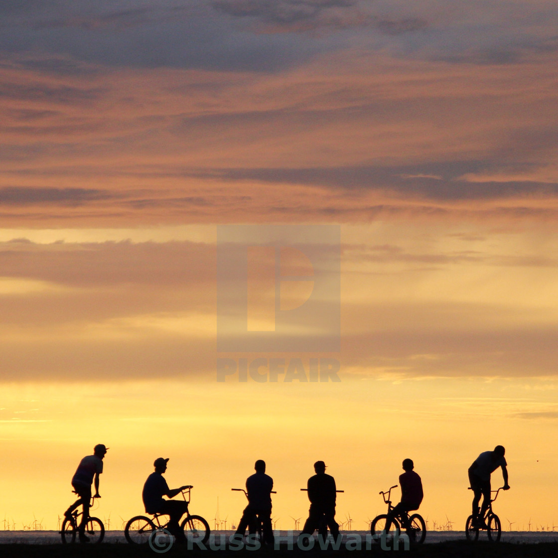 """BMX Sunset"" stock image"