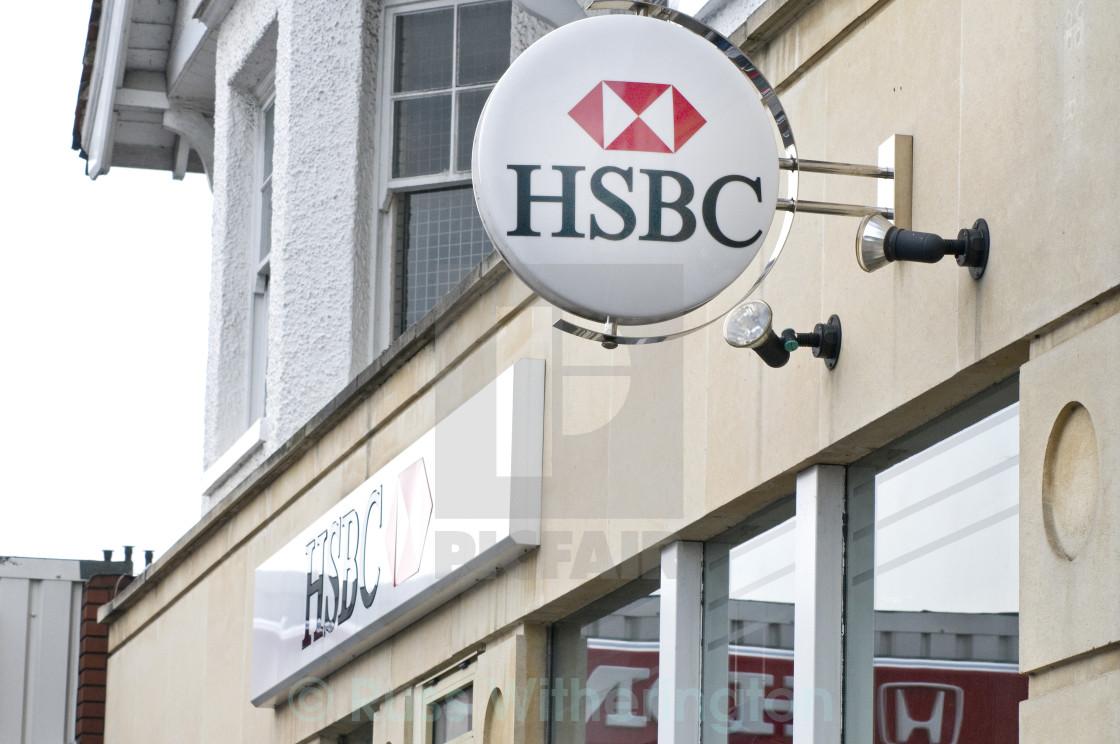 """""""HSBC Bank Sign"""" stock image"""