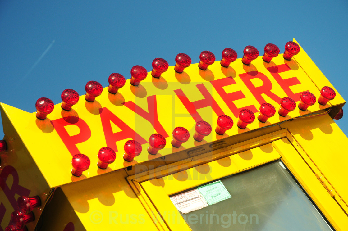 """Pay Here"" stock image"