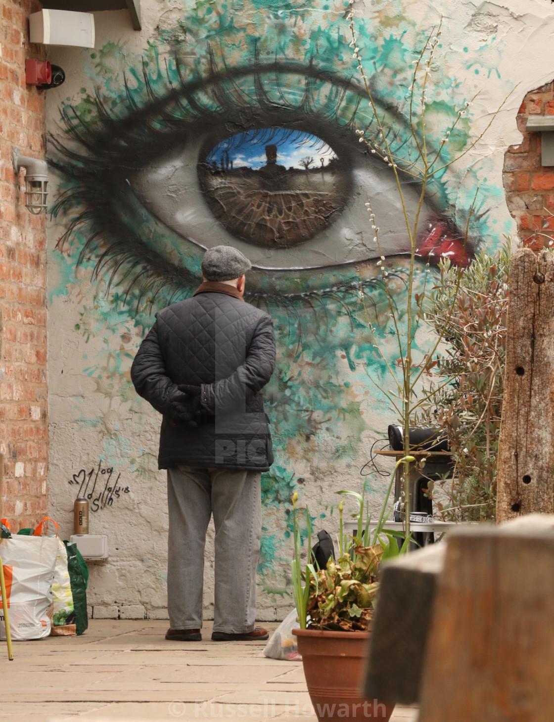 """My Dog Sighs, amazing street artist."" stock image"