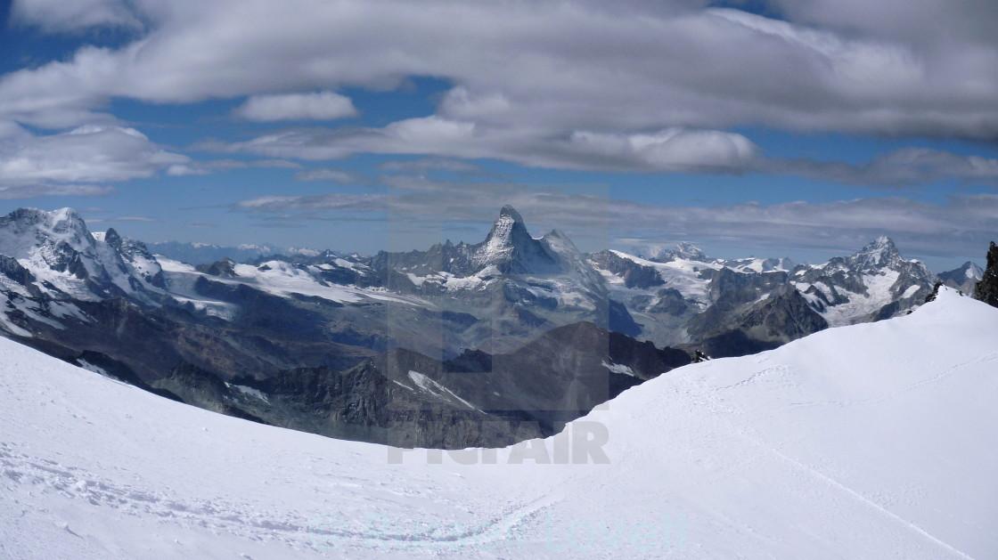"""Matterhorn panorama."" stock image"