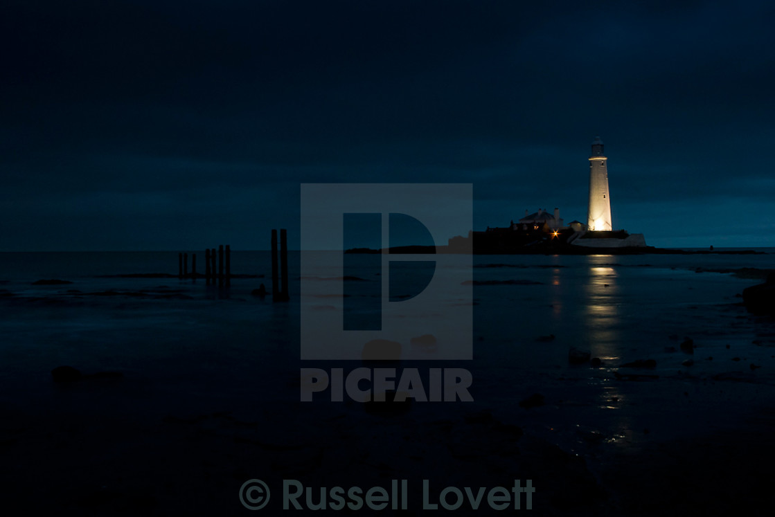 """St Mary,s Lighthouse. Whitley Bay. Northumberland. England"" stock image"