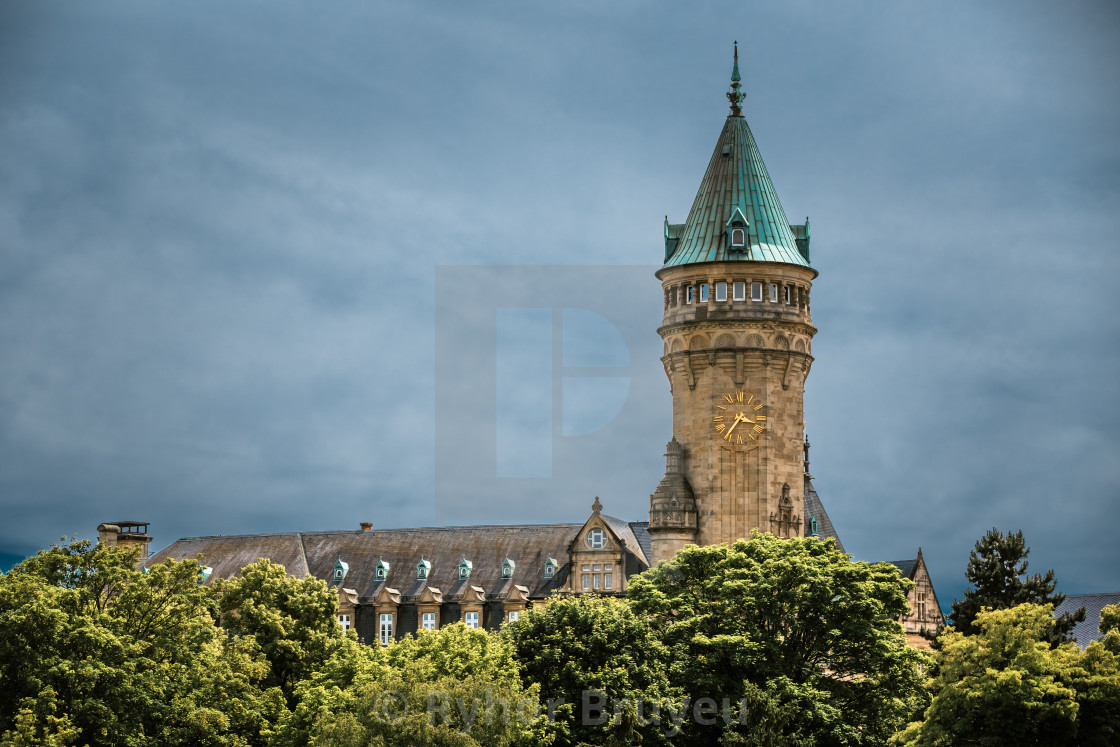 """""""State Savings Bank Headquarters(Spuerkees), Luxembourg"""" stock image"""