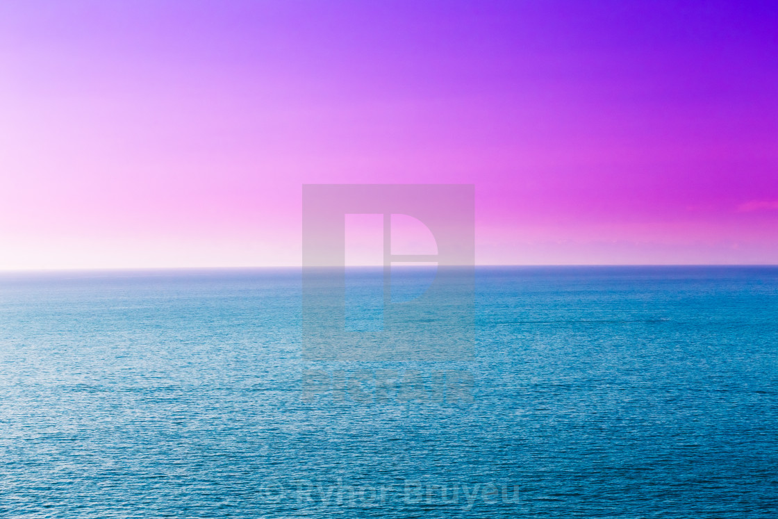 Blue Sea Or Ocean And Purple Or Magenta Clear Sunset Or Sunrise Sky Background License Download Or Print For 6 20 Photos Picfair