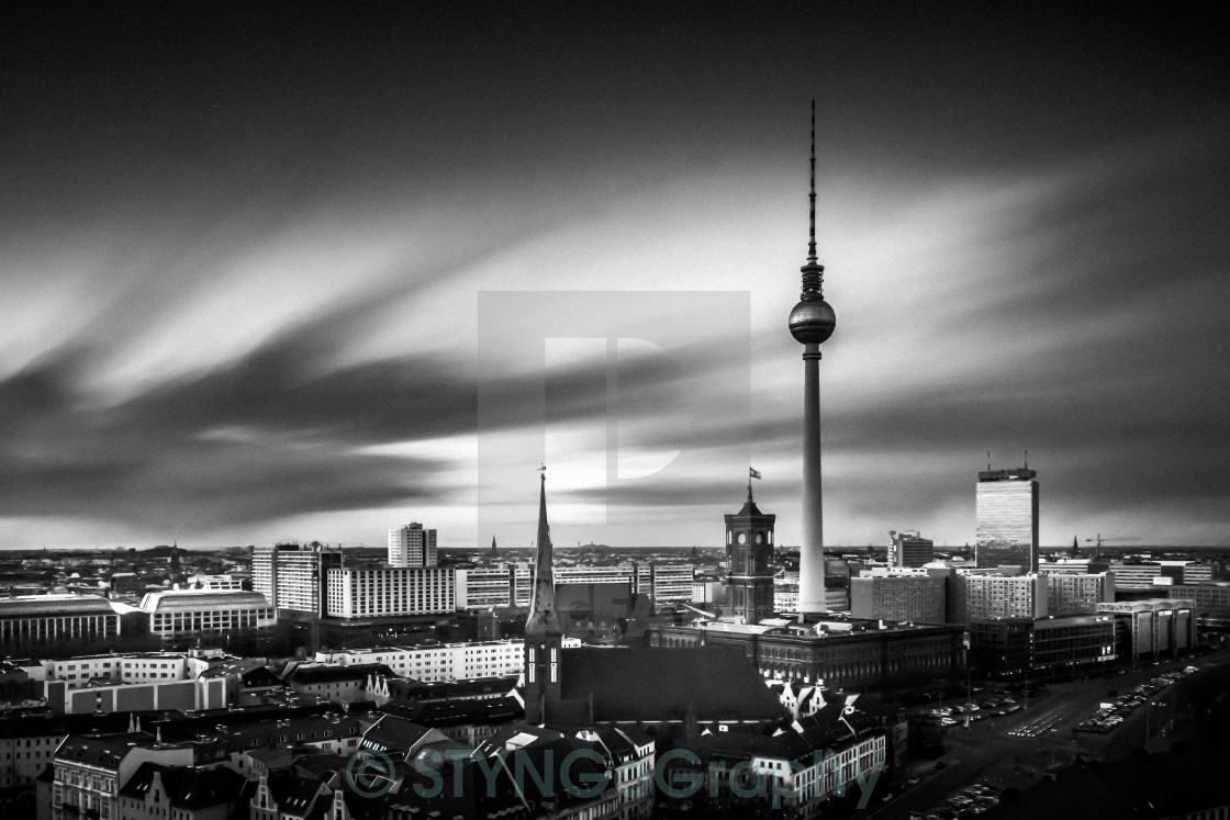 """Skyline Berlin I"" stock image"