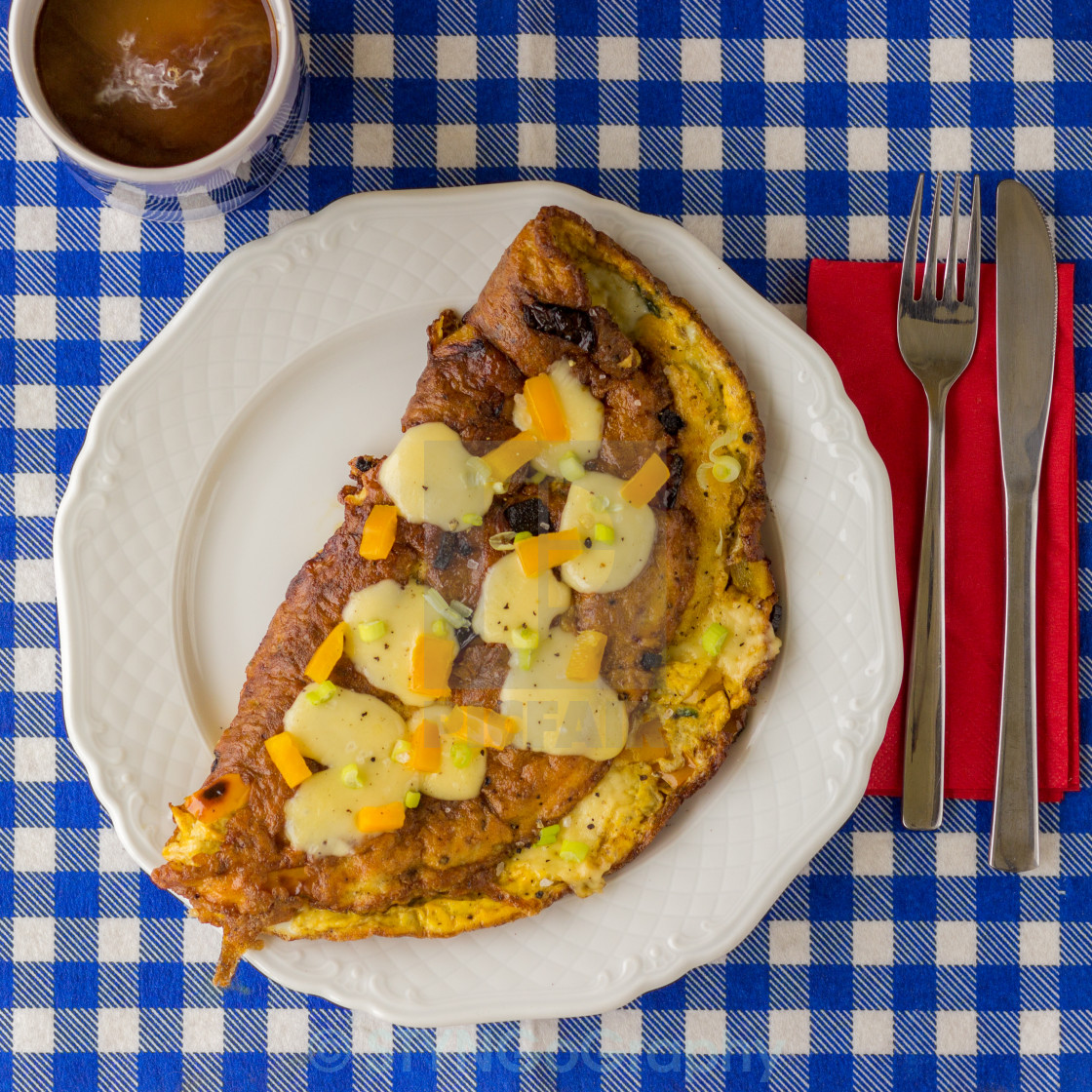 """Breakfast Omelette"" stock image"