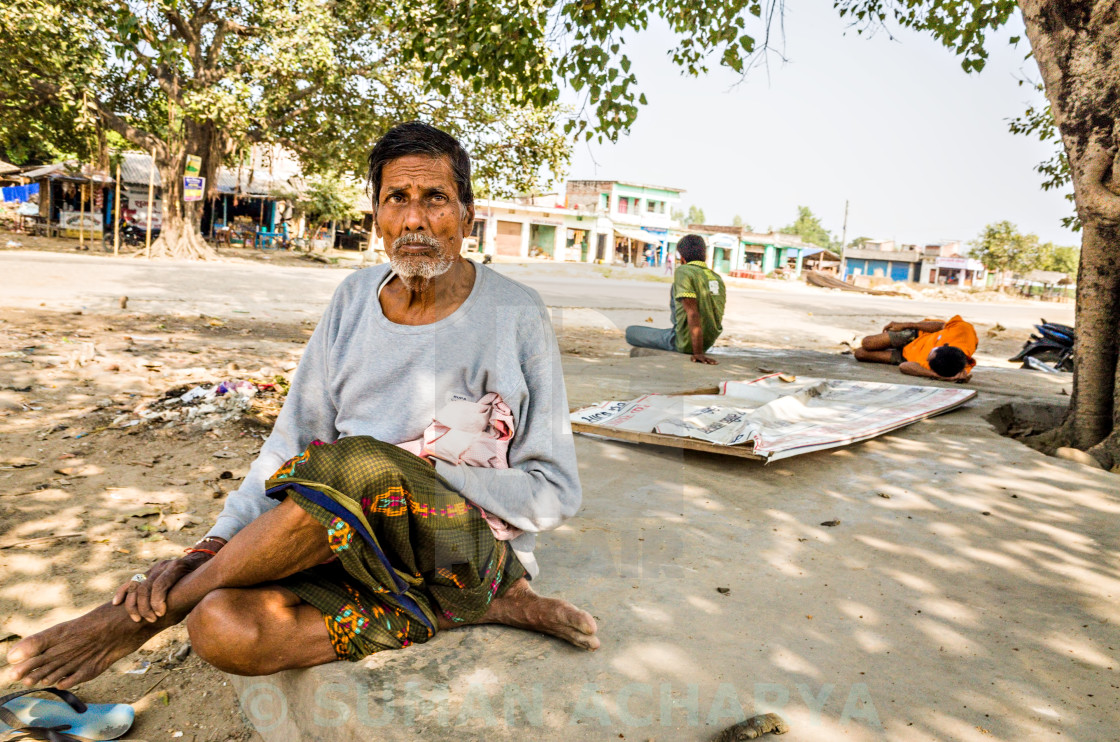 """Terai Old Man, Nepal"" stock image"