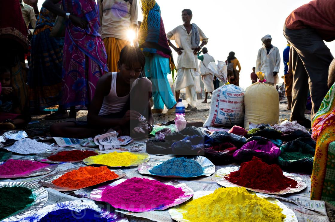 """""""Colours Shop"""" stock image"""
