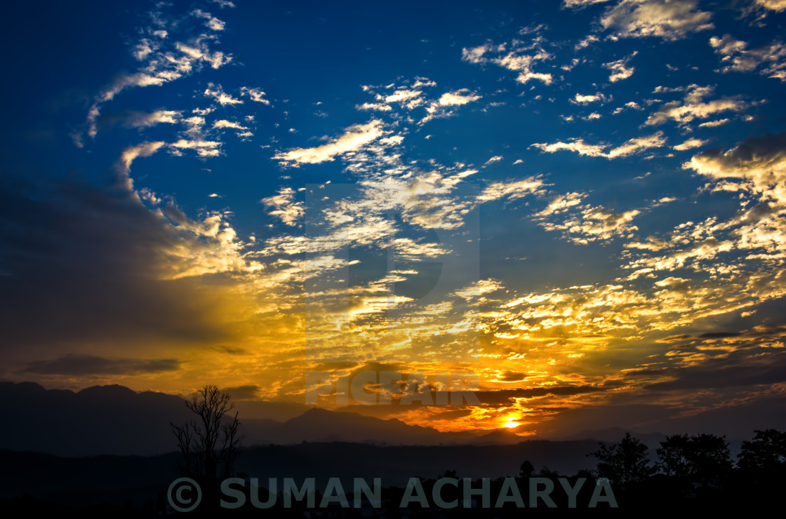 """""""Morning Clouds"""" stock image"""