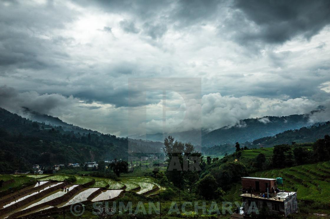 """Rainy Cloudy Day"" stock image"