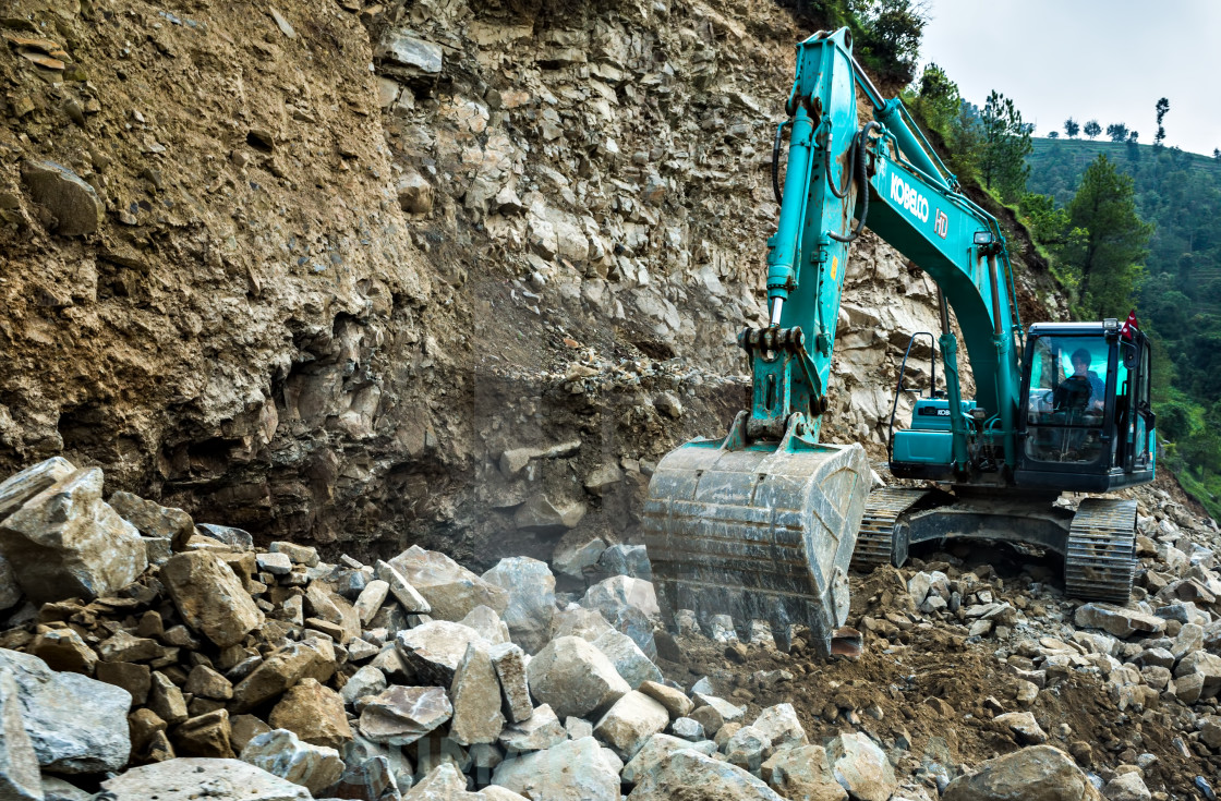"""Excavator At Work"" stock image"