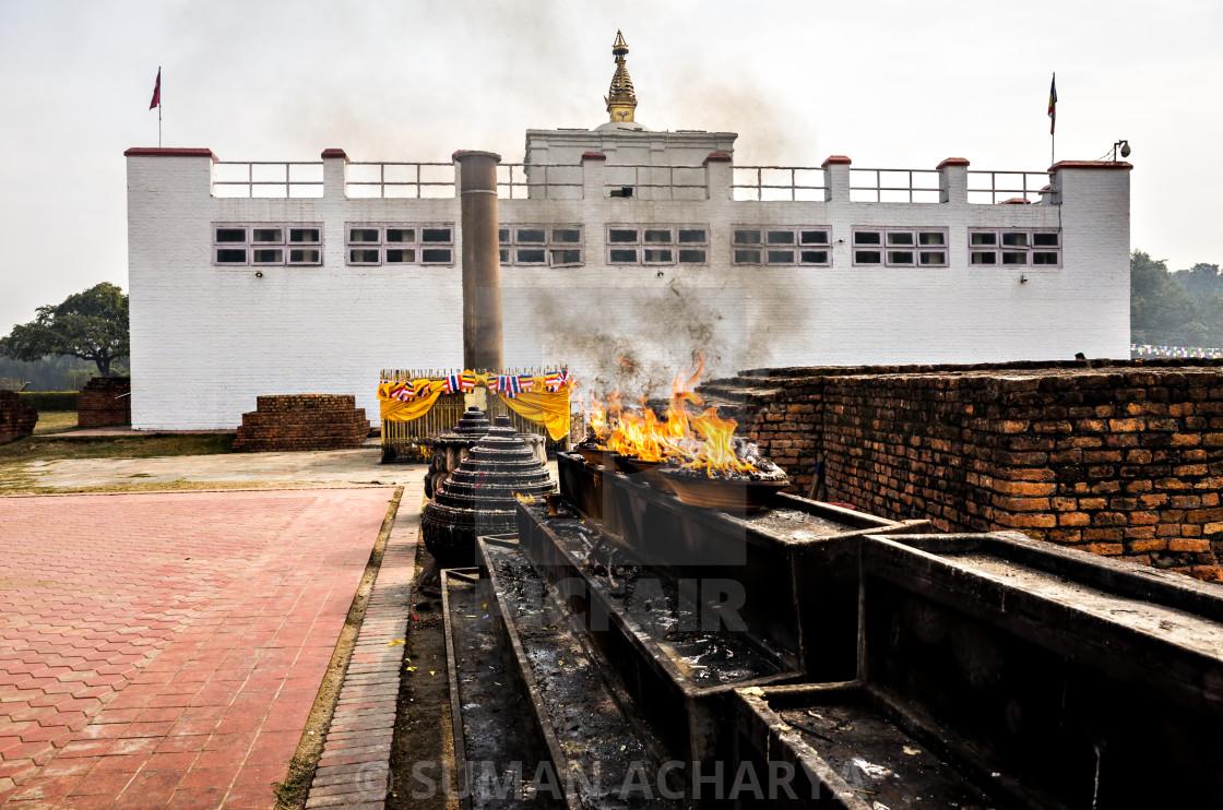 """Pillar of Ashoka, Lumbini"" stock image"