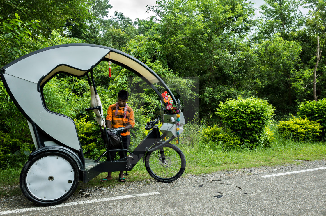 """""""Rickshaw Man"""" stock image"""