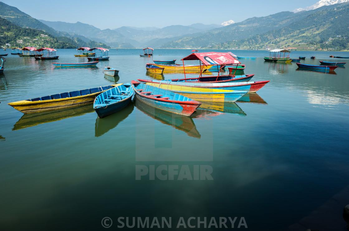 """Phewa Lake, Pokhara"" stock image"