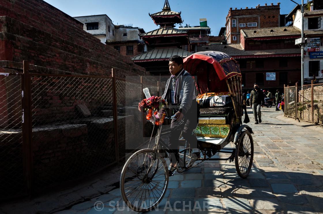 """""""Rickshaw"""" stock image"""