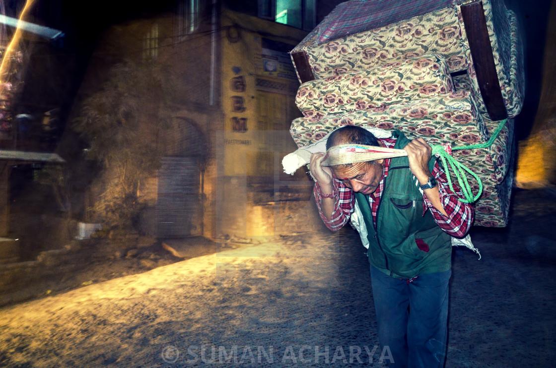 """""""Porter in Kirtipur"""" stock image"""