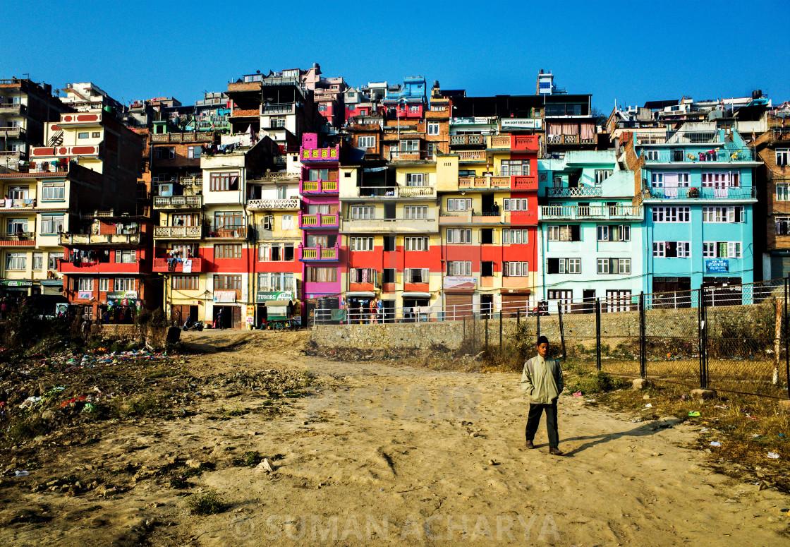 """""""Houses in Kirtipur"""" stock image"""