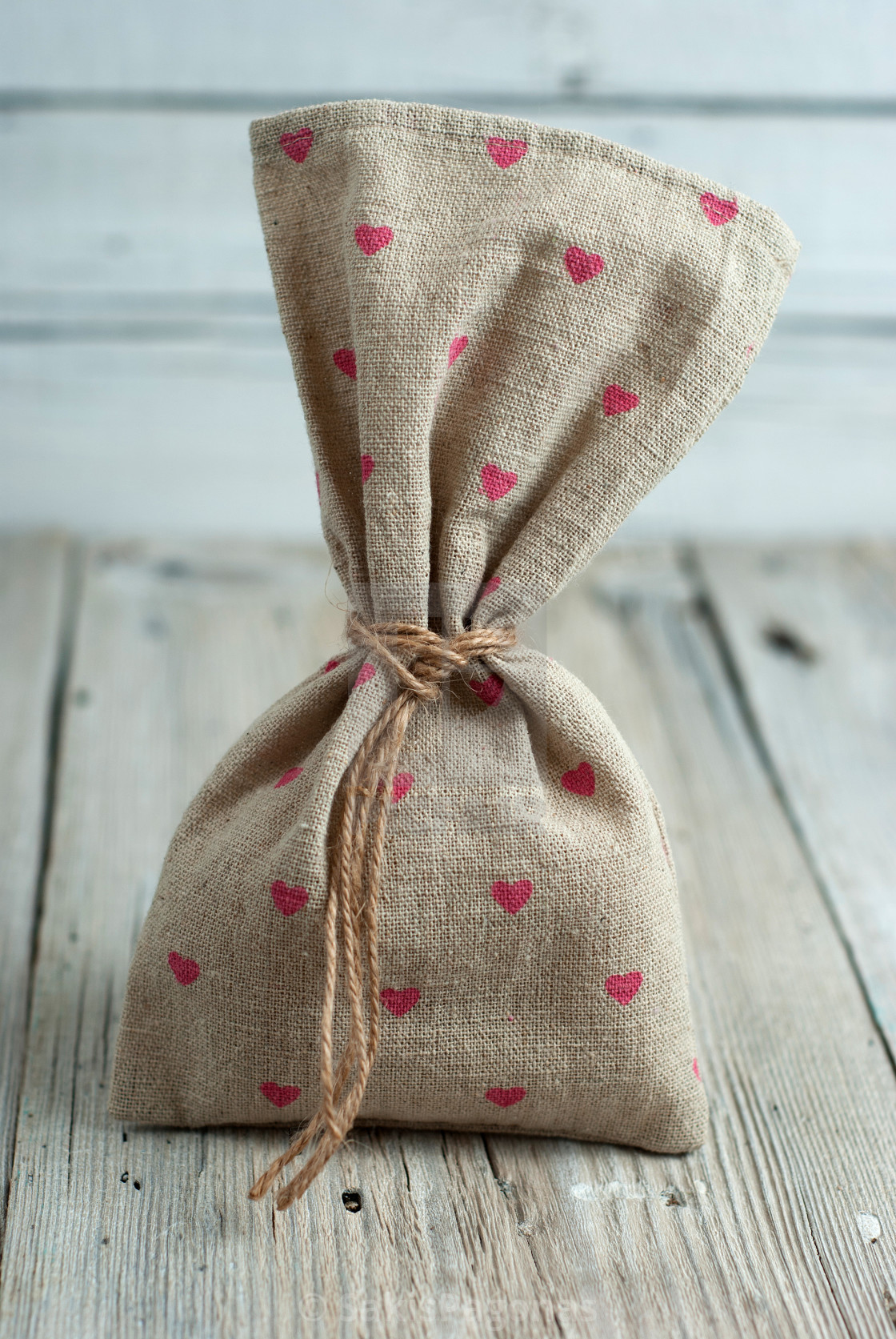 """""""Burlap pouch"""" stock image"""