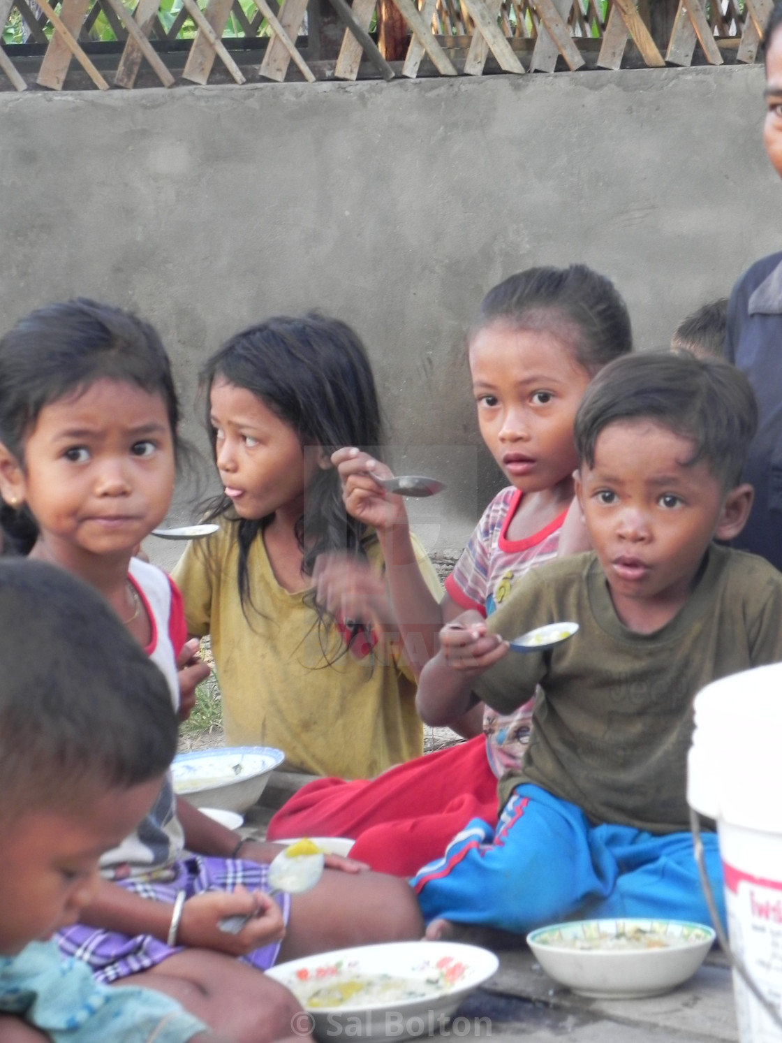 """Breakfast for Orphans, Cambodia"" stock image"