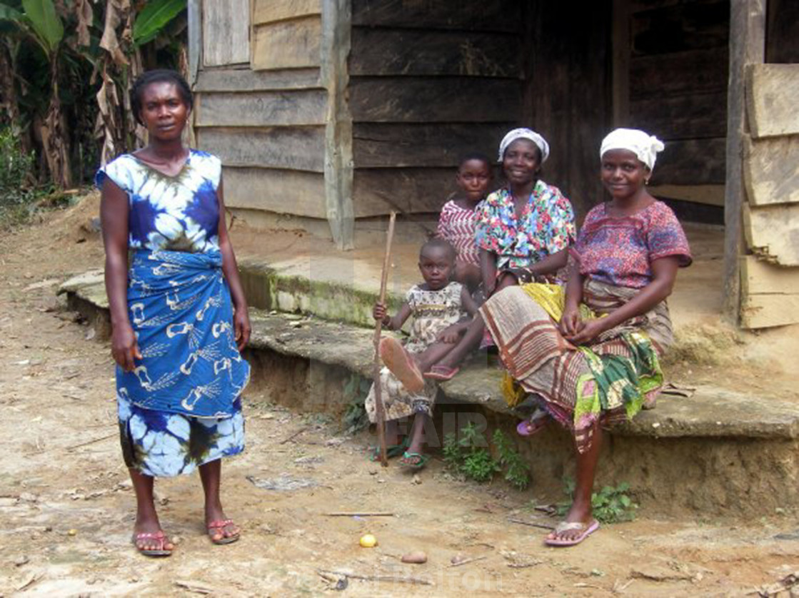 """Local Women and Children in Village Akim Aduasa, Central Region, Ghana"" stock image"