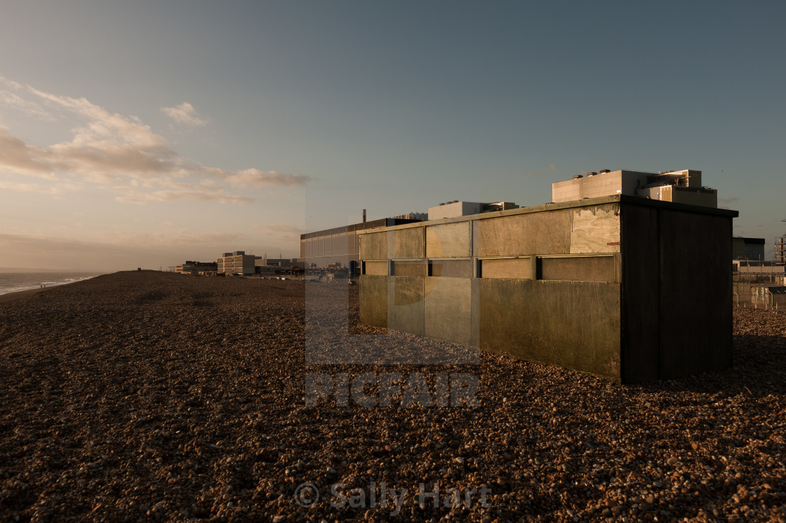 """Dungeness Beach"" stock image"