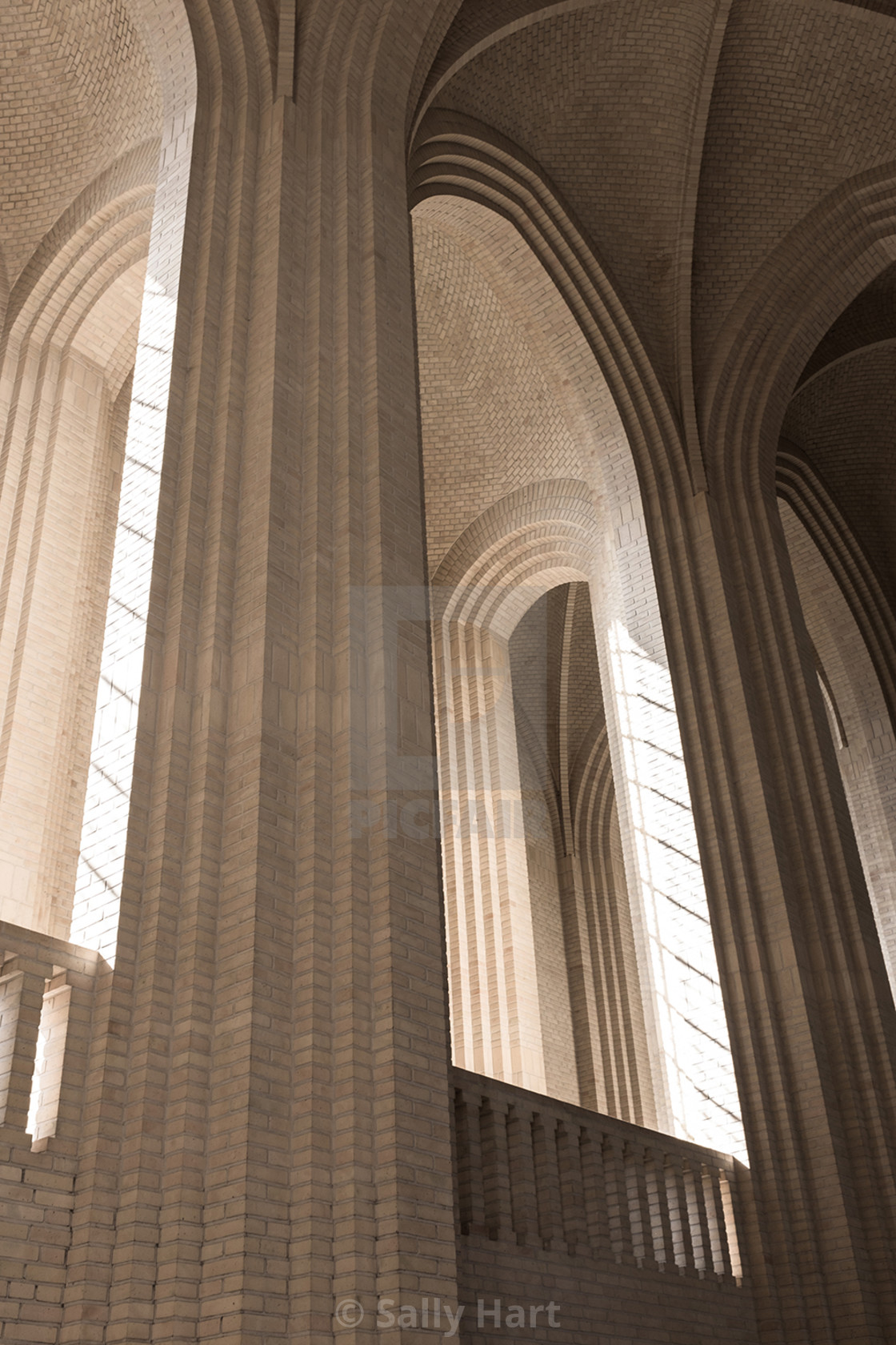"""Grundtvigs Kirke interior"" stock image"