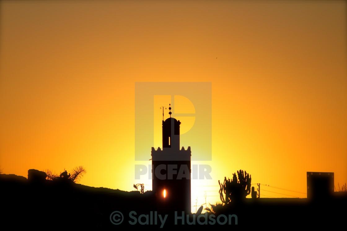 """Marrakesh sunset"" stock image"