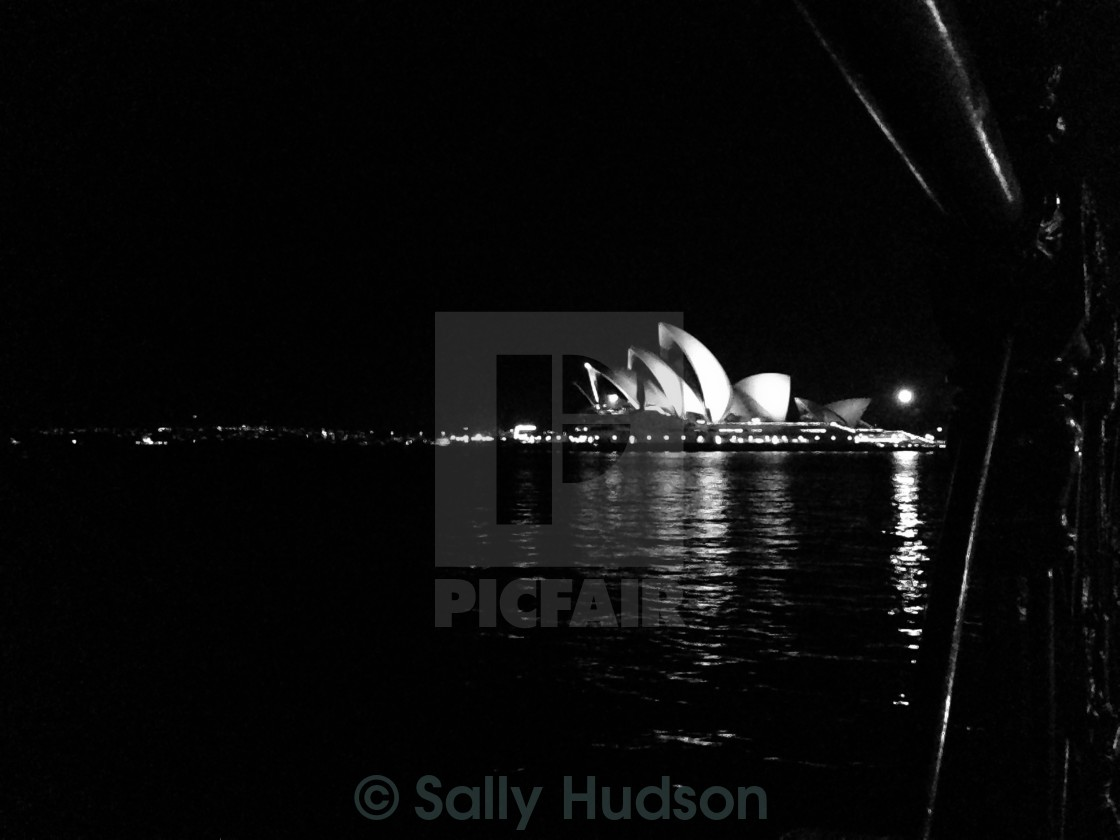 """Opera House by night"" stock image"