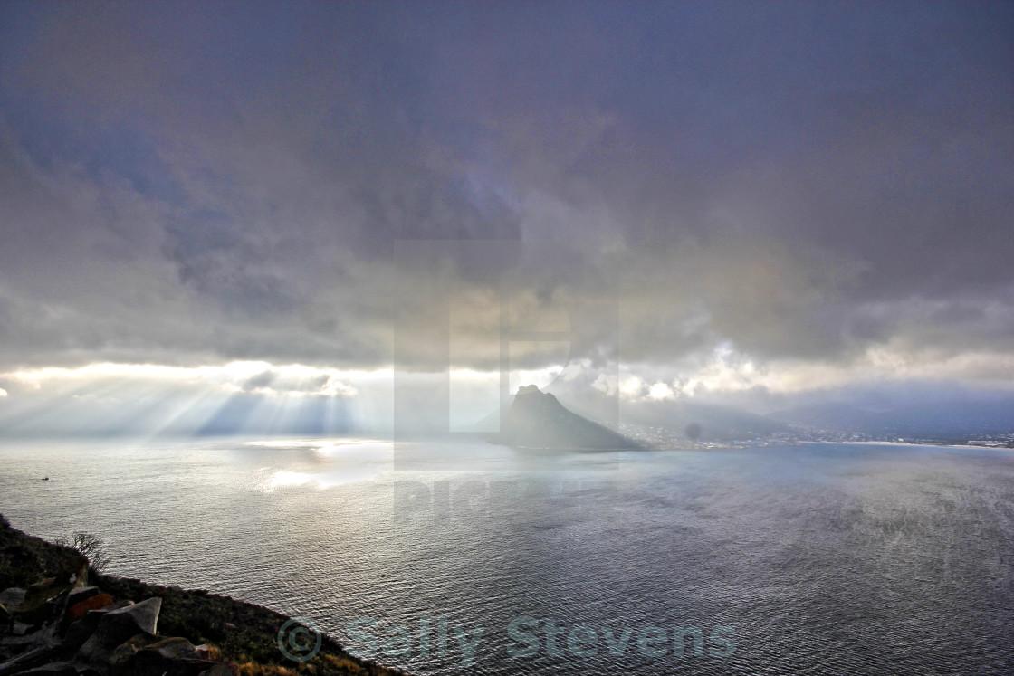 """Sunbeams over the sea"" stock image"