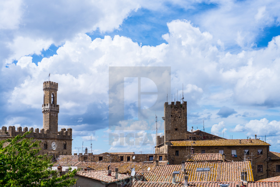 """""""view of Volterra"""" stock image"""